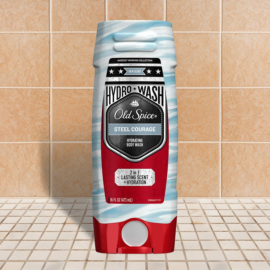 Steel Courage Hardest Working Collection Hydro Wash Body Wash