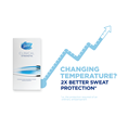 Changing temperature? 2x better sweat protection