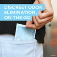 Discreet odor elimination, on the go
