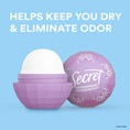 Helps keep you dry & eliminate odor
