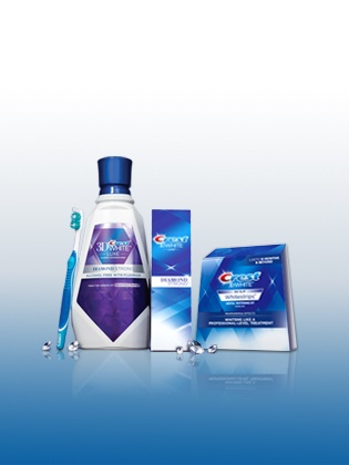 Freshen your breath while whitening with Crest 3D White Glamorous White Rinse.