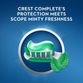 Crest complete's protection meets scope minty freshness