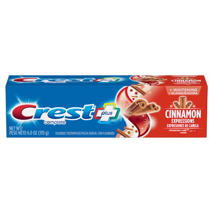 Crest Complete Whitening Plus Cinnamon Expressions Toothpaste