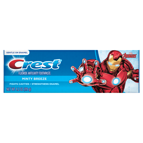 Crest Marvel S Avengers Kid S Toothpaste In Minty Breeze