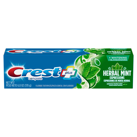 Crest Complete Whitening Plus Herbal Mint Expressions Toothpaste