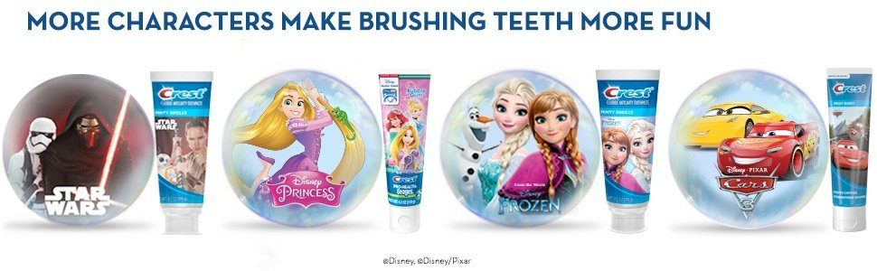 MORE CHARACTERS MAKE BRUSHING TEETH MORE FUN